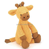 Yellow Plush Giraffe Stuffed Animal Baby Toy