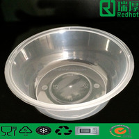 625ml PP Transparent Disposable Plastic Lunch Box/ take away chinese food box