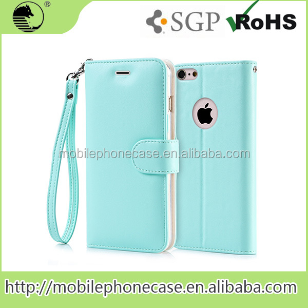 Factory Wholesale wallet mobile phone case for iphone 6
