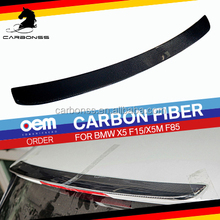 For BMW X5 F15 Carbon Gloss Black Roof Wing Spoiler 2014+