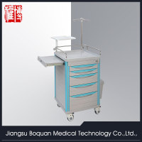 multi-function five drawers plastic-steel columns ABS emergency trolley