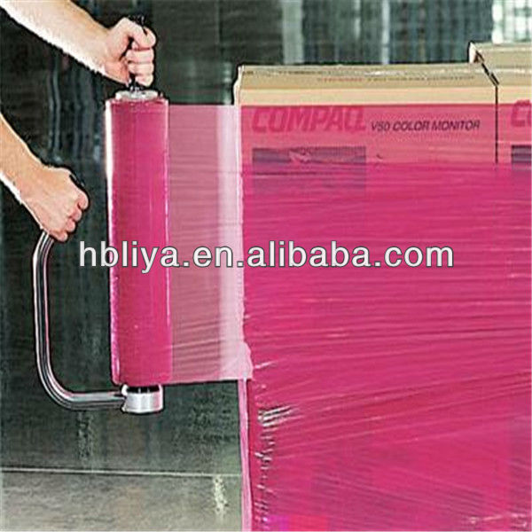 Pallet wrap pack stretch color plastic film with adhesive