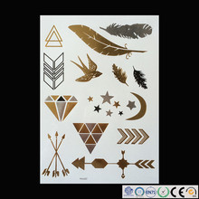 Wholesale Shining Body Art Temporary Tattoo Long-lasting Temporary Body Jewelry Tattoo