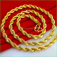 18k Gold Necklace men Jewelry Fashion Necklace 2016