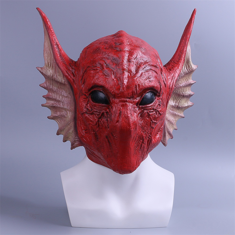 Mask Guardians of the Galaxy Vol. 2 Krugarr of LEM serpentine alien Full Head Latex Cosplay Masks Props Party Halloween (2)