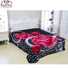 100%polyester korean custom printed blanket