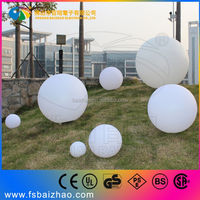 PE material remote control color changing round LED ball