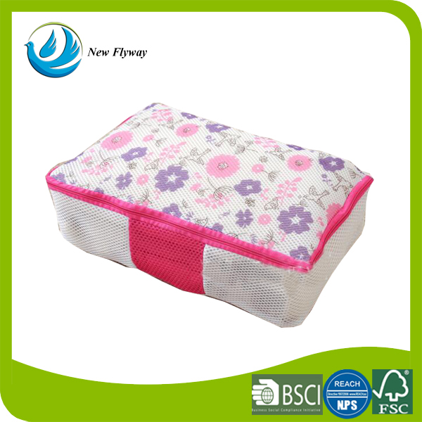 Cheap printed nursing care bags Padded mesh bra laundry bags for women