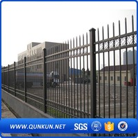 European Style Garden Zone Fence Galvanized Powder Coated Metal Palisade Fencing