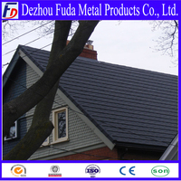 stone coated metal shingle roofing tile