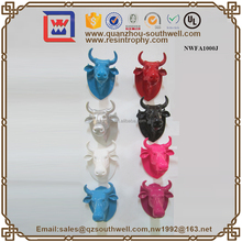 Resin Bull Head Modern Western Artificial Resin Home Wall Decoration Decorative Cow Heads