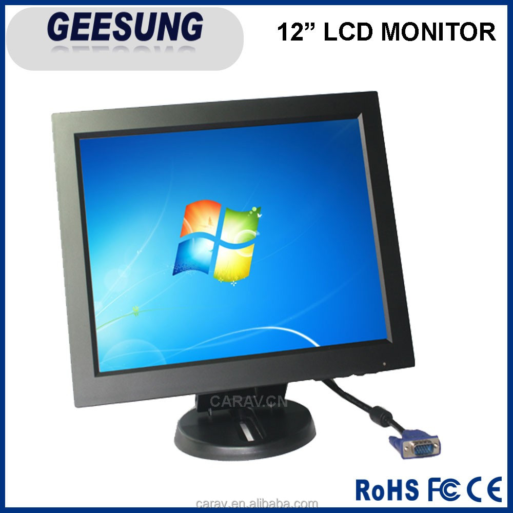 New high resolution 12 inch lcd monitor for pos security rapberry pi