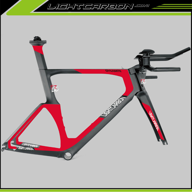OEM accept! 2017 LightCarbon 700C TT bike carbon BB86 49/52/54/56cm frame Time Trial bicycle frameset LTT001