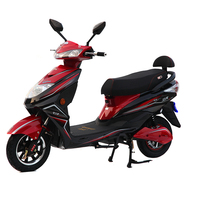 Black Strong Power Electric Mopeds For Adults