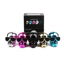 Promotion Creative Gifts Skull Wireless Blue tooth Speaker ,Skull Head Blue tooth Speakers for Halloween