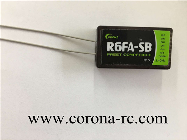 2.4GHz Futaba S.bus Rc Receiver R6FA-SB compatible for fasst transmitter