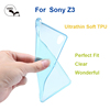 High Quality clear transparent TPU Mobile Phone Back Cover Case for Sony Z3