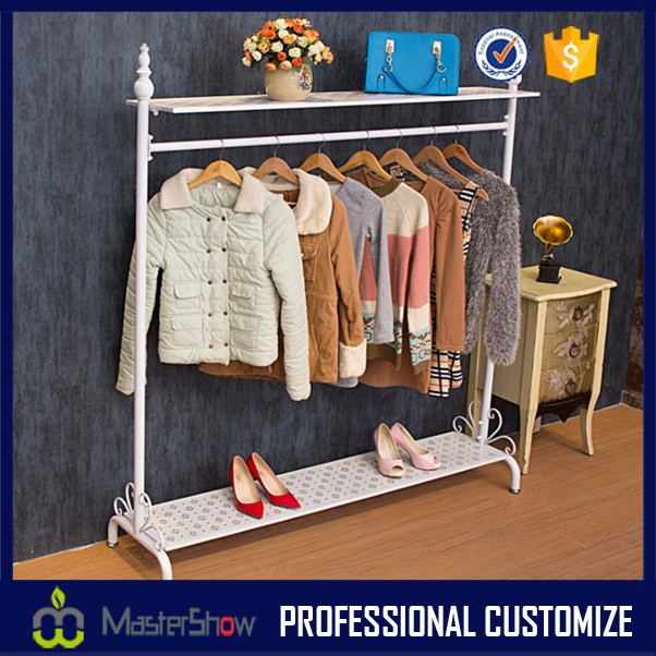 Garment hanging stand stainless steel clothes rack for garment store display
