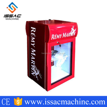Front And Rear Two-Way Visual Glass Door Mini Refrigerator Display Showcase Cabinet With Light Box