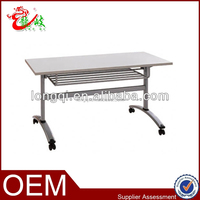 school used folding student desk with metal frame