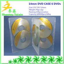 new pp plastic blank 14mm dvd box 6