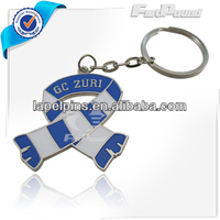 Promotional Metal Ribbon Keychain/Keyrings