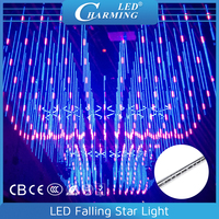 3D Magic Effect falling star LED Christmas lights with light and audio controlled synchronously