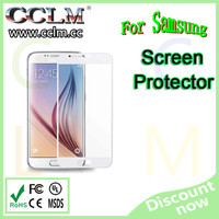 For Samsung Galaxy S6 tempered glass screen protector Curved design with retail package