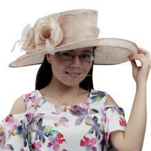 New designer ladies make white church hats