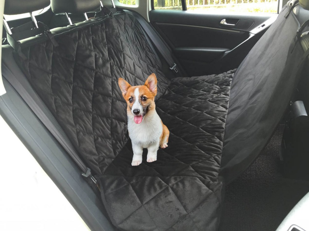 Non Slip Premium Dog Seat Covers for Cars Waterproof Hammock Style Pet Seat Covers