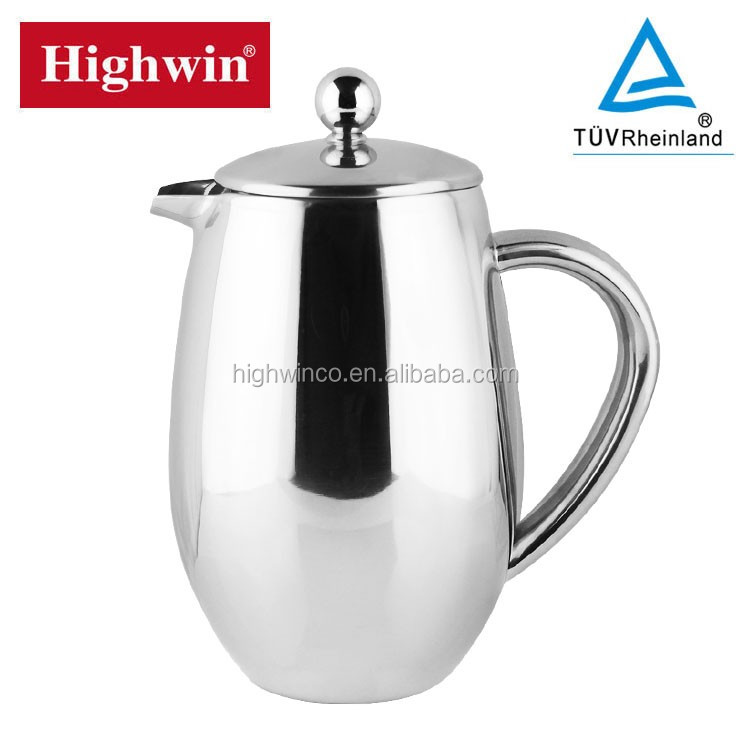 French Press Coffee Maker Automatic : 2017 New Style Cheapest Automatic Stainless Steel Coffee Press French Double Wall Coffee Maker ...