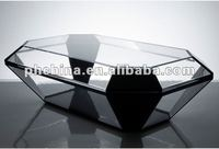 AN-109 Stylish Design Acrylic Furniture Polygon Gray Table/Desk