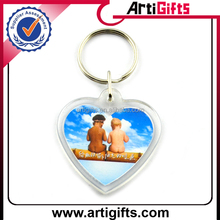 Heart shape cheap custom digital photo keychain
