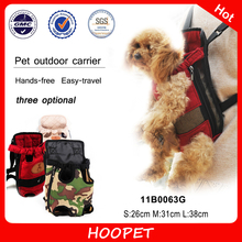 Pet Products Lovable Canvas Chest Front Backpack Dog Carrier