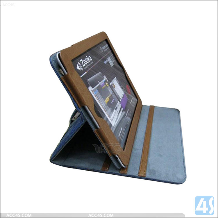 For iPad 2 3 4 Custom Covers wholesale ,Leather Protective Case for iPad 2/3/4, For iPad 4 cowboy cover