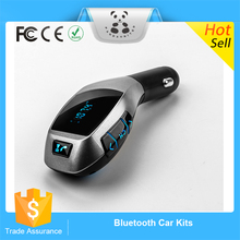 2016 Hot Bluetooth Car Kit Handsfree Set FM Transmitter MP3 Music Player USB Car Charger Support Micro SD Card