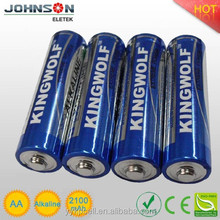 the aa 1.5v lr6 an used torch light alkline battery,china supplier