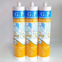 Excellent extension silicone sealant clear
