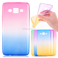 Rainbow Gradient Color Transparent Clear TPU Mobile Phone Back Case Cover For Samsung Galaxy J5