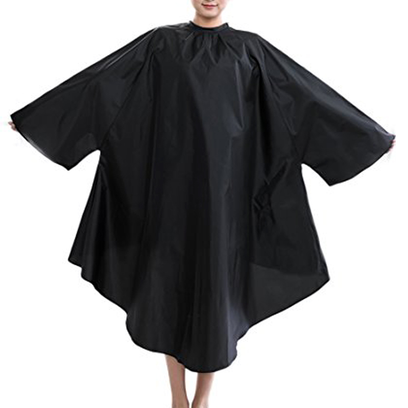 Professional Barber Haircut Cape with Sleeves Black Salon Hair Cutting Cape Gown Waterproof Salon Products Hair Extensions Cape