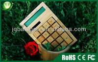 Bamboo Solar Power Calculator - usb hub with calculator