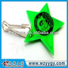 2013 promotional cheap reflective puffy PVC key chain star made in china