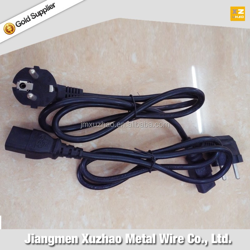 Norwegian plug power cord/cable/wire 2 circles pin/ Single head