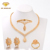 Beautiful jewelry design 18k gold plated pakistani bridal jewelry set