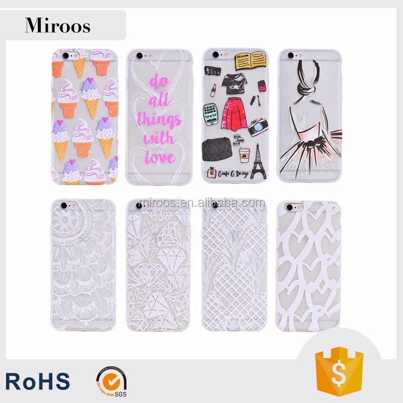 Custom water paste print tpu cell phone case cover factory price hot sale