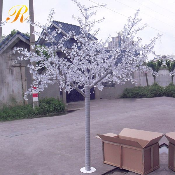 Cost popular white LED tree wrought iron