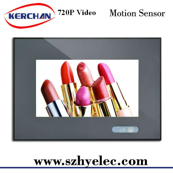 Hot sell 7 inch tft support 720P video resolution counter stand custom lcd display for cosmetic display stands