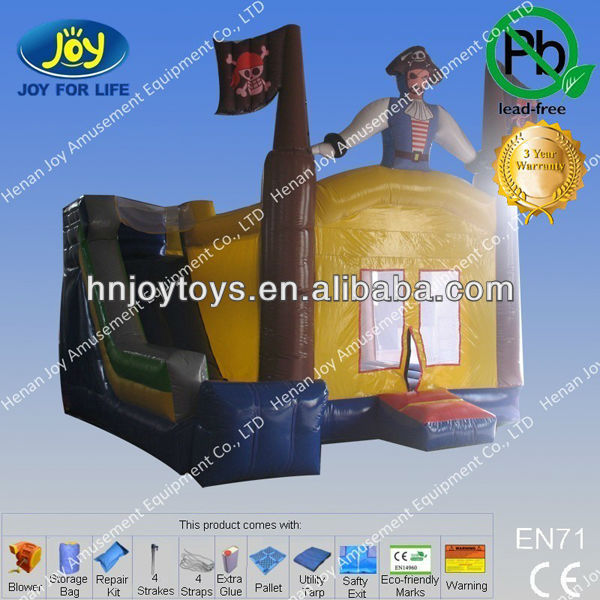 outdoor toys with one eye captian on pirate ship inflatable bouncer