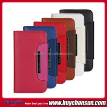 2 in 1 leaher wallet flip case for iphone 6 mobile phone cover