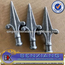 rail head/cast iron or forged steel barb wrought iron spearhead